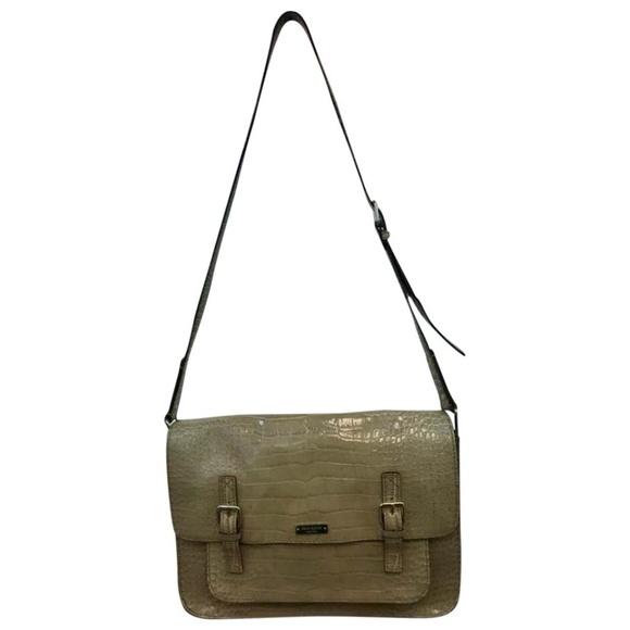 Kate Spade Animal Print Leather Messenger Bag